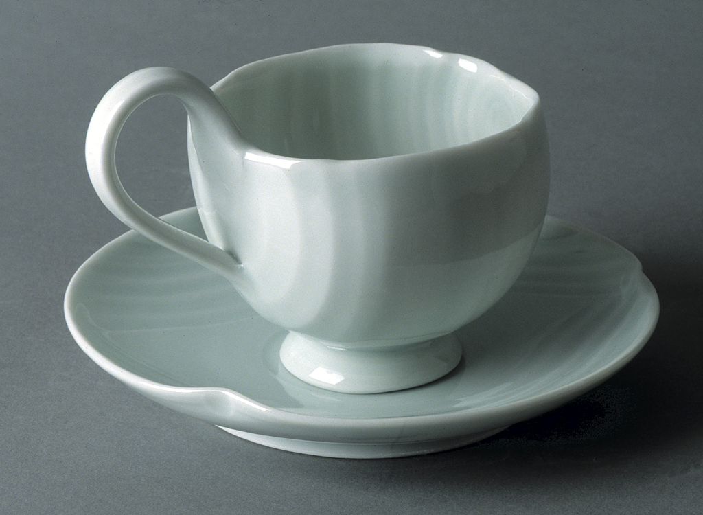 'Xing' Cup and Saucer
